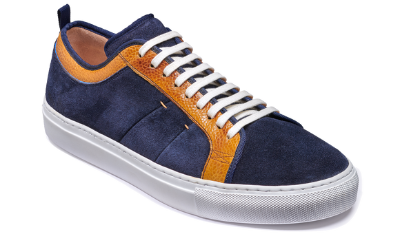 Greg - Navy Suede / Cedar Grain