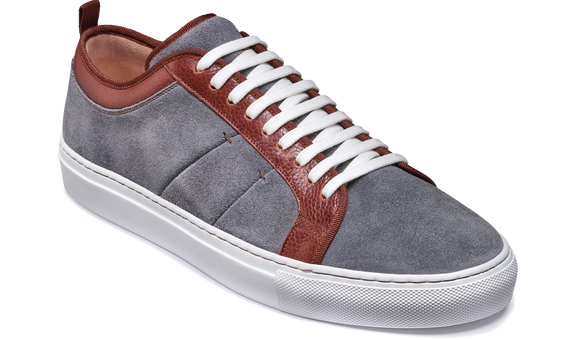 Greg - Grey Suede / Brown Grain