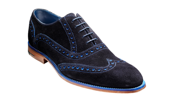 Grant - Navy / Blue Suede