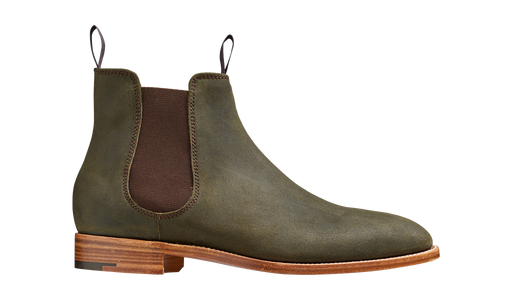 Mansfield - Green Waxy Suede