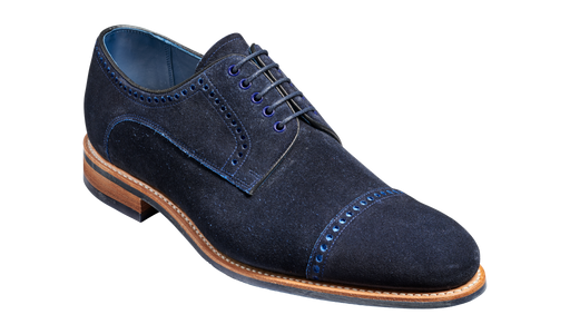 Marvin - Navy Cut Through Suede