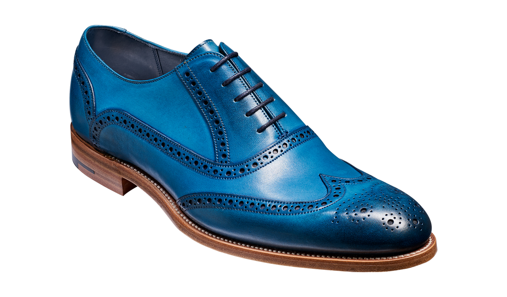 8f58ec64a6980 Valiant - Blue Hand Painted | Barker Shoes UK