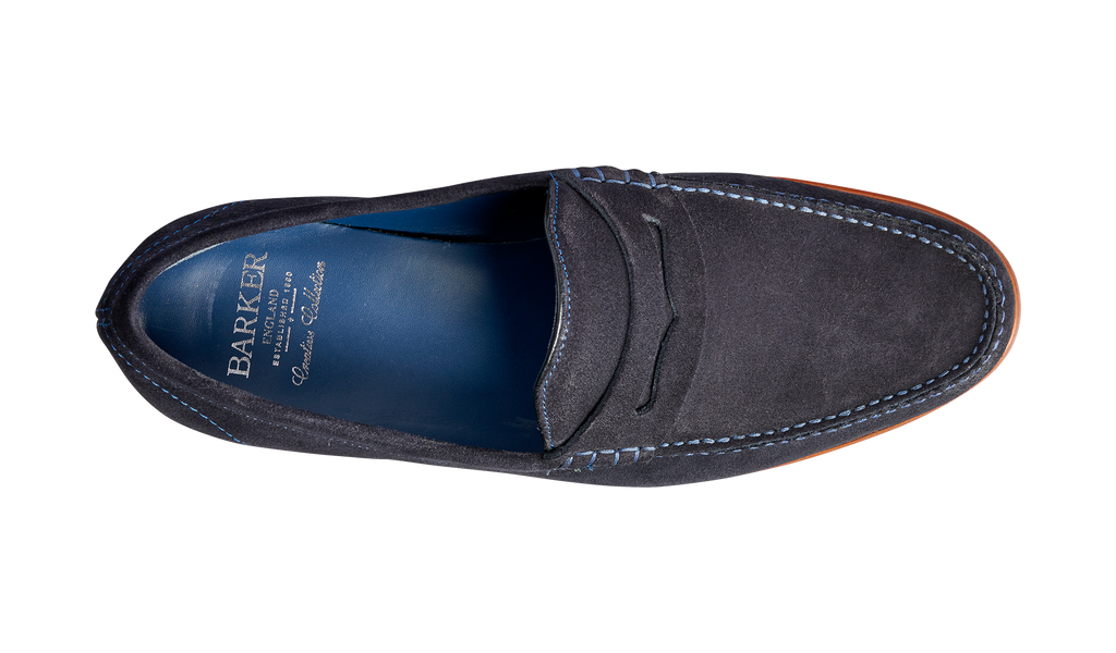 William - Dark Navy Suede