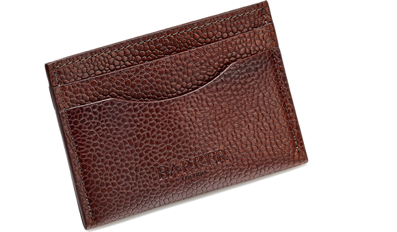 Card Holder Curved - Cherry Grain