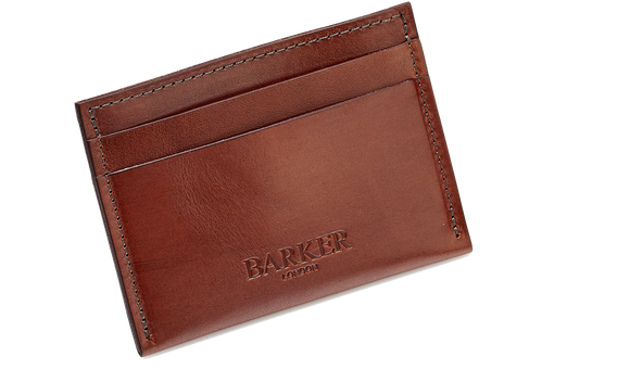 Card Holder Straight - Rosewood Calf