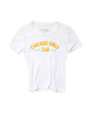 Chicago Girls Club Ribbed Fitted Tee
