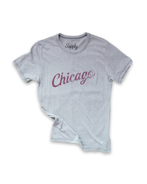 Vintage Cursive - Grey and Maroon