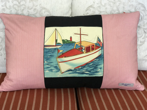 Handmade Transportation Patchwork Pillows