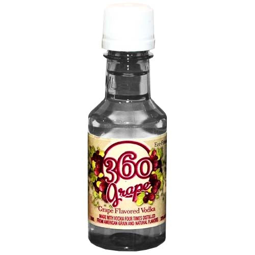 360 Grape Flavored Vodka 50ml - 10pk