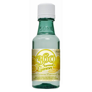 360 Sorrento Lemon Flavored Vodka 50ml - 10pk
