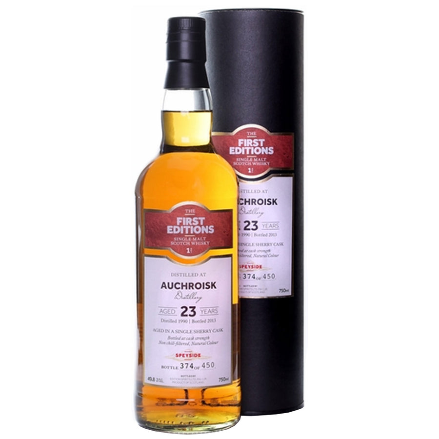 First Editions Auchroisk 23yr Single Malt Scotch
