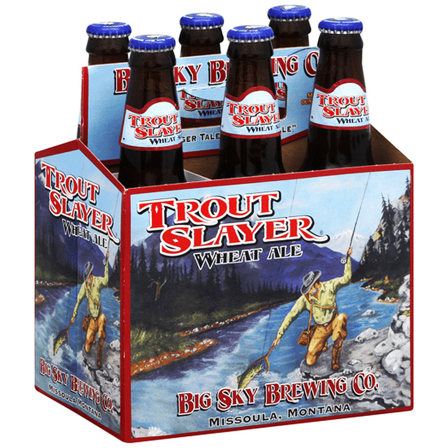 Big Sky Brewing Trout Slayer Wheat Ale 6pk 12oz Bottles
