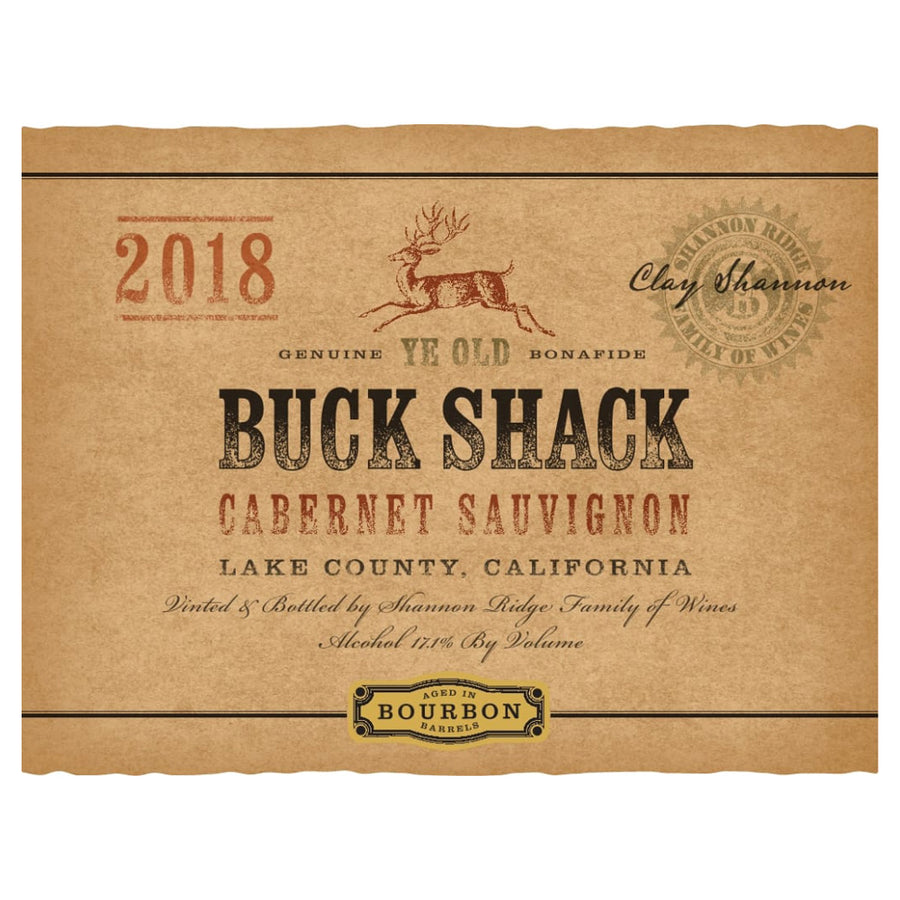 Buck Shack Bourbon Barrel Cabernet Sauvignon 2018