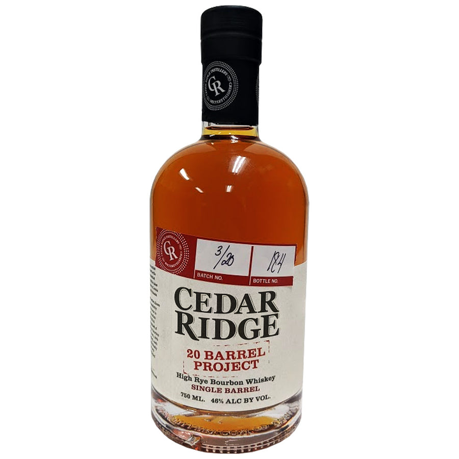 Cedar Ridge 20 Barrel Project Single Barrel High Rye Bourbon