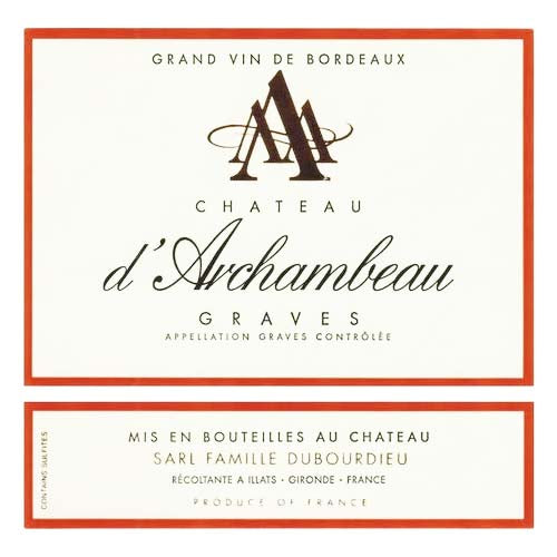 Chateau d'Archambeau Graves Rouge 2015