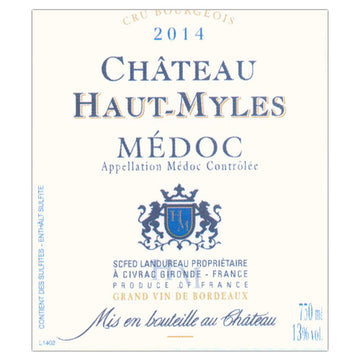 Chateau Haut-Myles Medoc Cru Bourgeois 2014