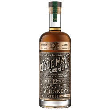 Clyde May's 12-Year-Old Cask Strength Alabama Whiskey