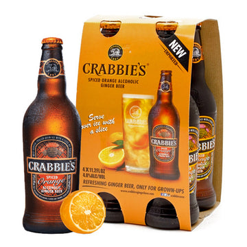 Crabbie's Spiced Orange Alcoholic Ginger Beer 4pk 12oz Bottles
