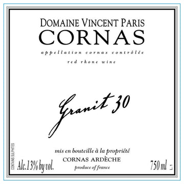 Vincent Paris Cornas Granit 30 2016
