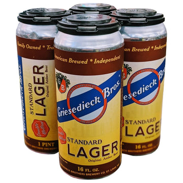 Griesedieck Bros Standard American Amber Lager 4pk/16oz Cans
