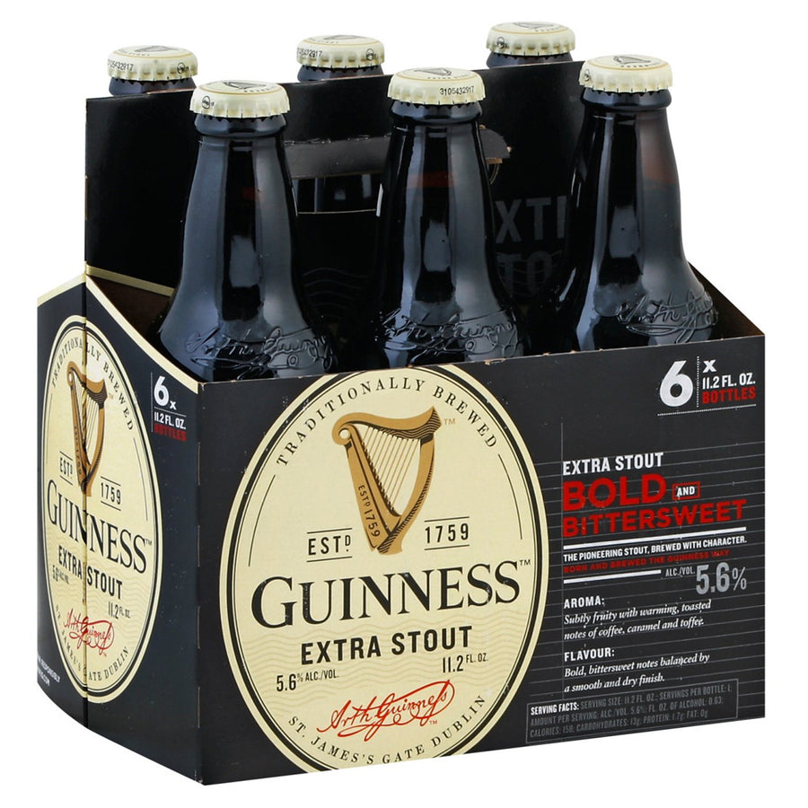 Guinness Extra Stout 6pk/11.2oz Bottles