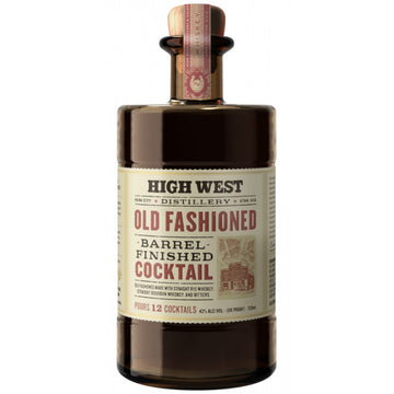 High West Old Fashioned Barrel Finished Cocktail