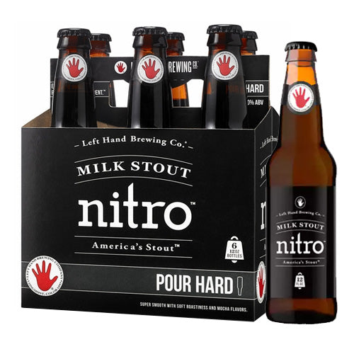 Left Hand Nitro Milk Stout 6pk 12oz Bottles