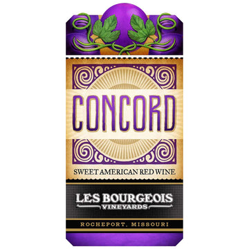Les Bourgeois Concord Sweet Red Wine