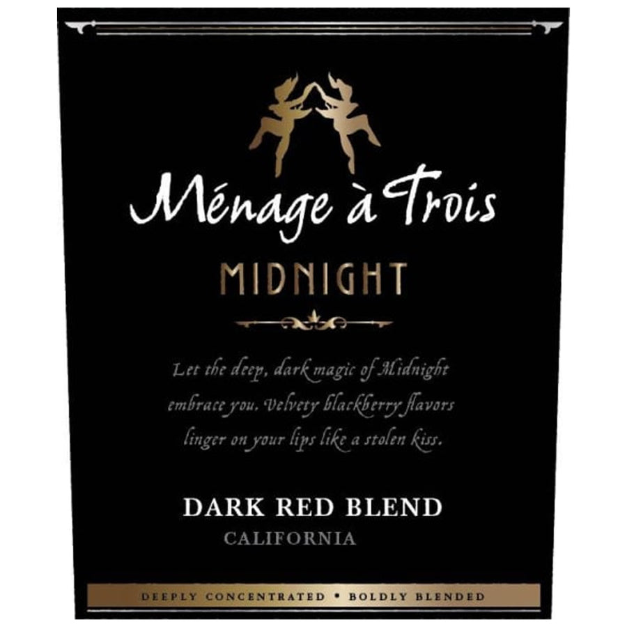Menage a Trois Midnight Dark Red Blend 2018