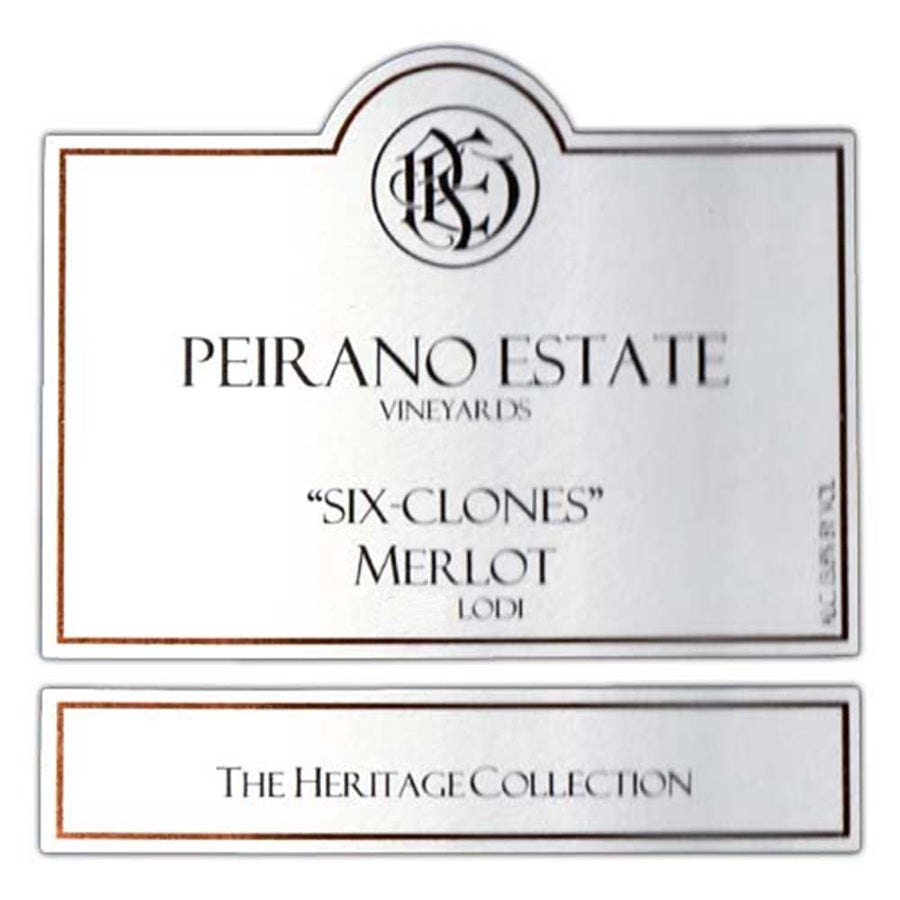 Peirano Estate Six Clones Merlot 2016 Lodi Heritage Collection