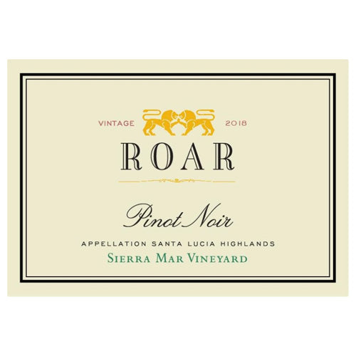 Roar Sierra Mar Vineyard Pinot Noir 2018