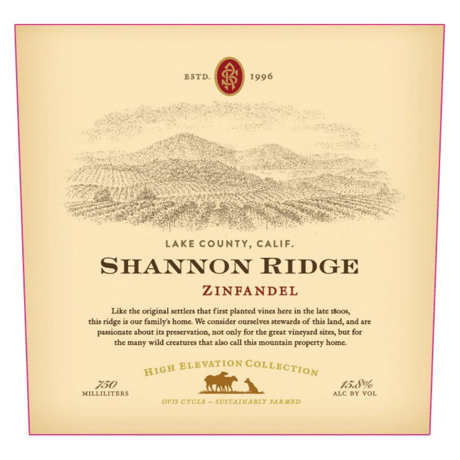 Shannon Ridge High Elevation Zinfandel 2019
