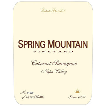 Spring Mountain Vineyard Estate Cabernet Sauvignon 2015