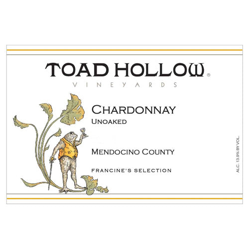 Toad Hollow Francine's Selection Unoaked Chardonnay 2018