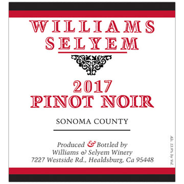 Williams Selyem Sonoma County Pinot Noir 2017