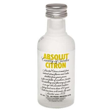 Absolut Vodka Citron 50ml - 12pk