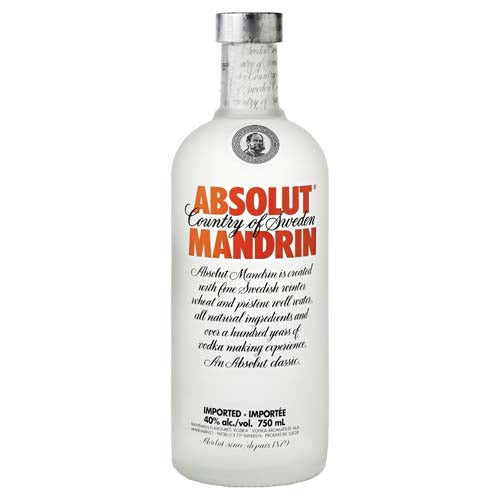 Absolut Mandarin Orange Vodka