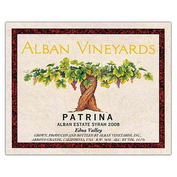 Alban Patrina Alban Estate Syrah 2016