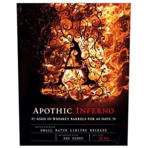 Apothic Inferno Aged in Whiskey Barrels