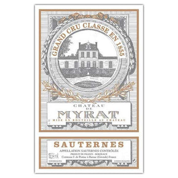 Chateau de Myrat Sauternes 2016 375ml FUTURES