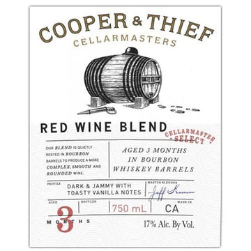 Cooper & Thief Bourbon Barrel Aged Red Blend 2017