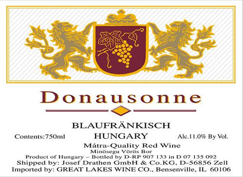 Donausonne Blaufrankish Red Wine