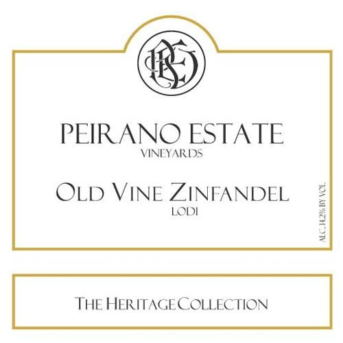 Peirano Estate Old Vine Zinfandel 2018 Lodi Heritage Collection