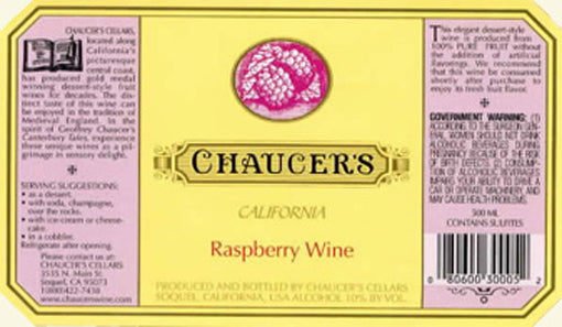 Chaucers Raspberry Wine 500ml