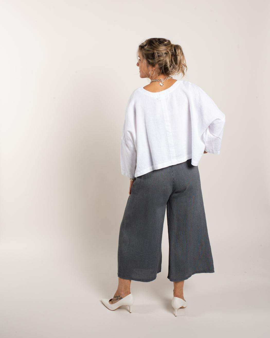STRIPED PLEAT PANT
