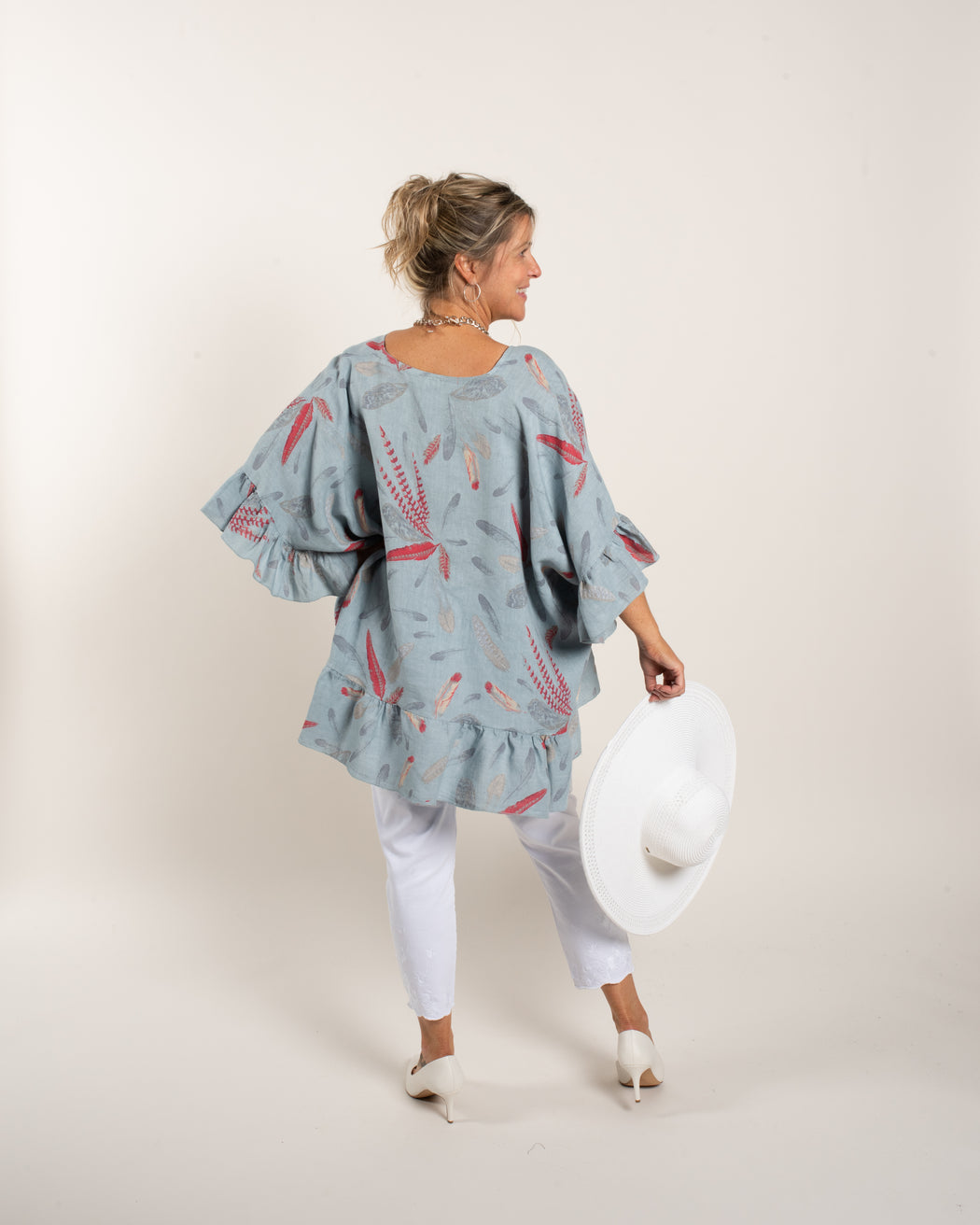 FEATHER GAUZE TOP