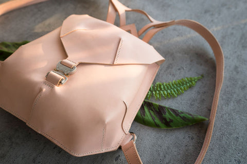unique leather backpack