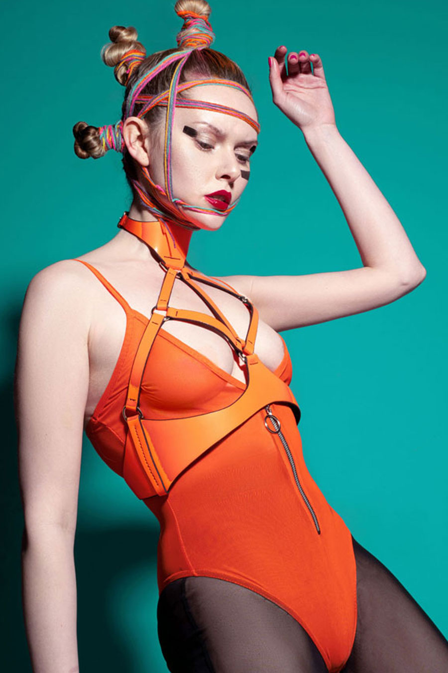 BRALET HARNESS NEON ORANGE / SAMPLE SALE