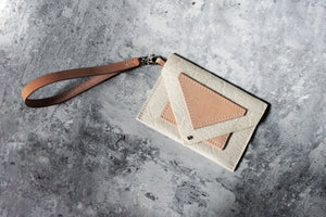 LARGE PINATEX TRIANGLE PURSE