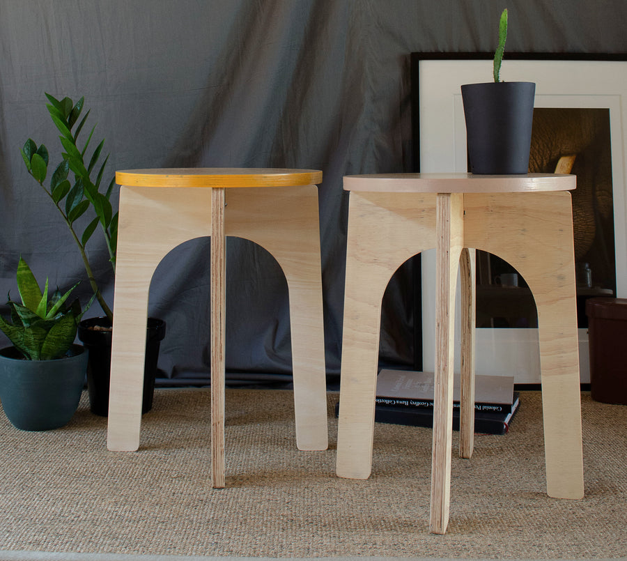 Parkville Plus Stool in a living room design